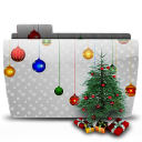 128x128px size png icon of Folder Xmas Tree