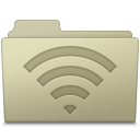 128x128px size png icon of AirPort Folder Ash
