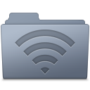 128x128px size png icon of AirPort Folder Graphite