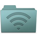128x128px size png icon of AirPort Folder Willow