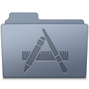 128x128px size png icon of Applications Folder Graphite