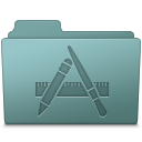 128x128px size png icon of Applications Folder Willow