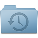 128x128px size png icon of Backup Folder Blue
