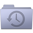 128x128px size png icon of Backup Folder Lavender