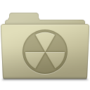 128x128px size png icon of Burnable Folder Ash