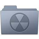 Burnable Folder Graphite Icon