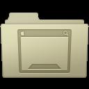 128x128px size png icon of Desktop Folder Ash