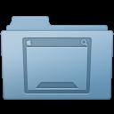128x128px size png icon of Desktop Folder Blue