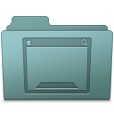 128x128px size png icon of Desktop Folder Willow