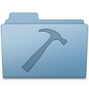 128x128px size png icon of Developer Folder Blue