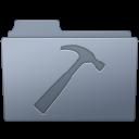 128x128px size png icon of Developer Folder Graphite