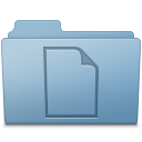 128x128px size png icon of Documents Folder Blue