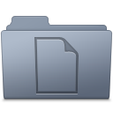 128x128px size png icon of Documents Folder Graphite