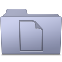 128x128px size png icon of Documents Folder Lavender