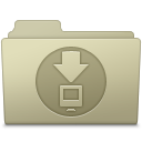 128x128px size png icon of Downloads Folder Ash