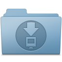 Downloads Folder Blue Icon
