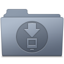 128x128px size png icon of Downloads Folder Graphite