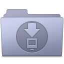 128x128px size png icon of Downloads Folder Lavender