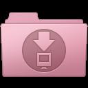 128x128px size png icon of Downloads Folder Sakura