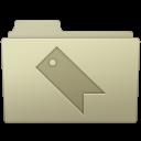 128x128px size png icon of Favorites Folder Ash