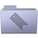 Favorites Folder Lavender Icon