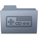 128x128px size png icon of Game Folder Graphite