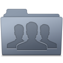 128x128px size png icon of Group Folder Graphite