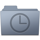 128x128px size png icon of History Folder Graphite