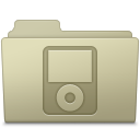 128x128px size png icon of IPod Folder Ash