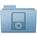 128x128px size png icon of IPod Folder Blue
