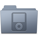 128x128px size png icon of IPod Folder Graphite