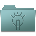 128x128px size png icon of Idea Folder Willow