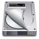 128x128px size png icon of Internal Drive Half open
