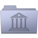 Library Folder Lavender Icon