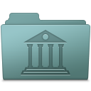 128x128px size png icon of Library Folder Willow