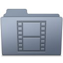 Movie Folder Graphite Icon