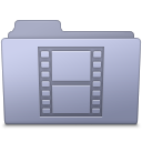 Movie Folder Lavender Icon
