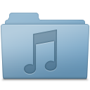 128x128px size png icon of Music Folder Blue