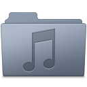128x128px size png icon of Music Folder Graphite
