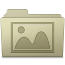 128x128px size png icon of Photo Folder Ash