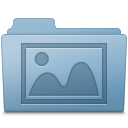 128x128px size png icon of Photo Folder Blue
