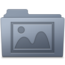128x128px size png icon of Photo Folder Graphite