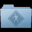 128x128px size png icon of Public Folder Blue