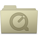 128x128px size png icon of QuickTime Folder Ash