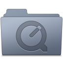 128x128px size png icon of QuickTime Folder Graphite
