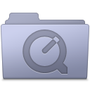 128x128px size png icon of QuickTime Folder Lavender