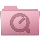 128x128px size png icon of QuickTime Folder Sakura