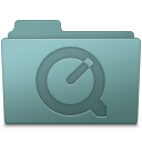 128x128px size png icon of QuickTime Folder Willow
