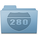 Route Folder Blue Icon