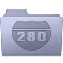 Route Folder Lavender Icon